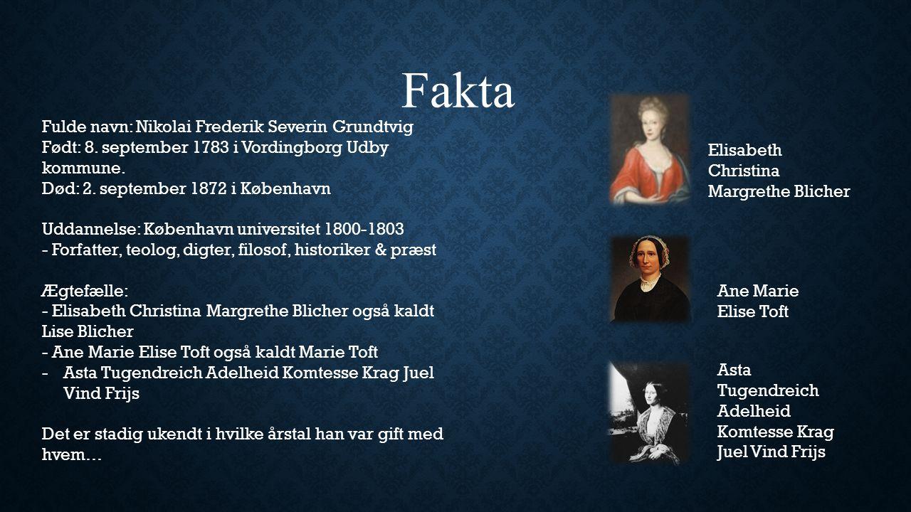Fakta Fulde navn: Nikolai Frederik Severin Grundtvig