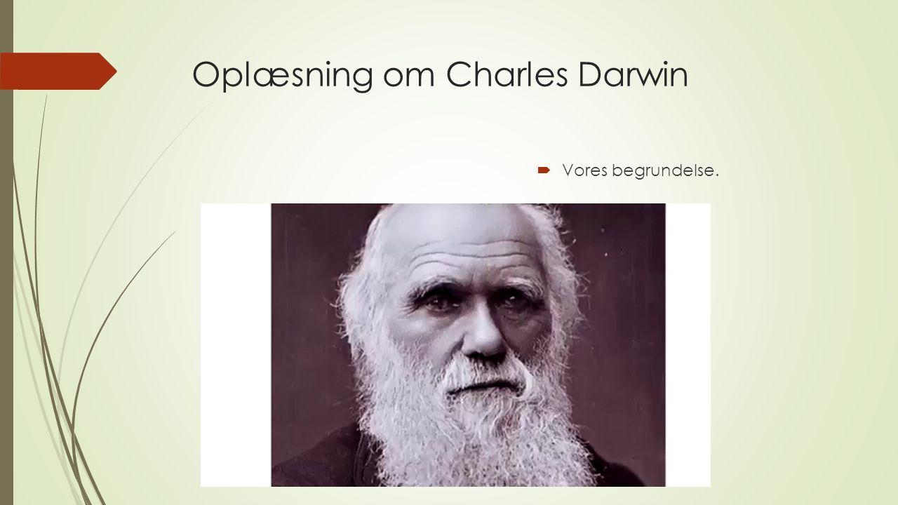 Oplæsning om Charles Darwin