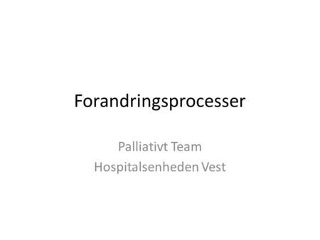 palliativt team esbjerg