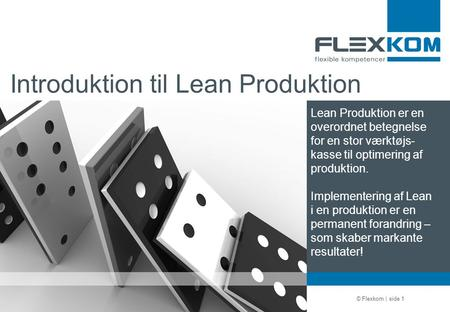 Introduktion til Lean Produktion