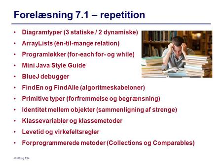 Forelæsning 7.1 – repetition