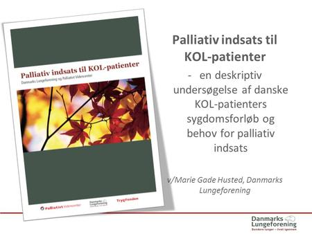 Palliativ indsats til KOL-patienter
