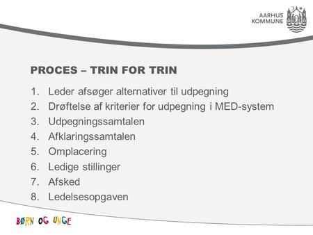 Proces – trin for trin Leder afsøger alternativer til udpegning