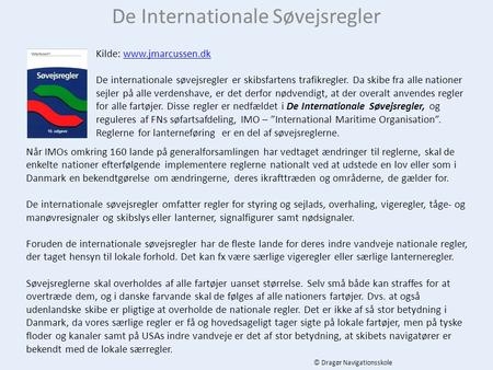 De Internationale Søvejsregler