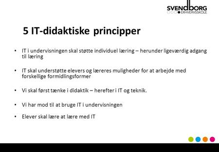 5 IT-didaktiske principper