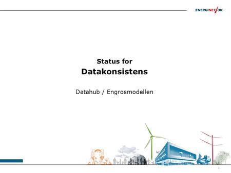Status for Datakonsistens