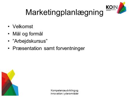 Marketingplanlægning