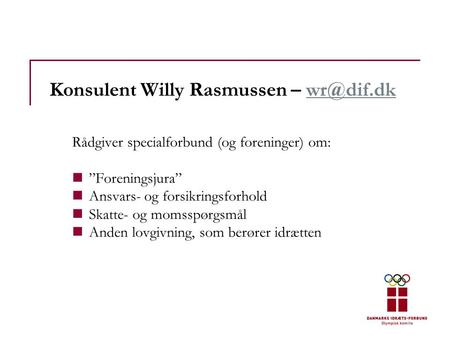 Konsulent Willy Rasmussen –