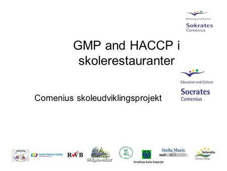 GMP and HACCP i skolerestauranter