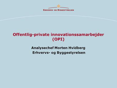 Offentlig-private innovationssamarbejder (OPI)