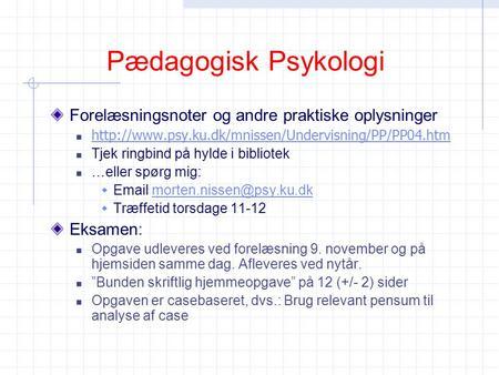 case analyse i psykologi