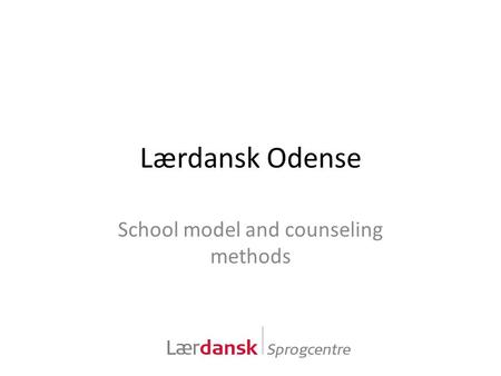 School model and counseling methods