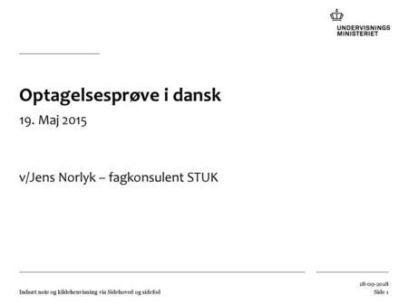Bliv Opdateret Inden Af Arets Prover I Dansk Ppt Video Online Download