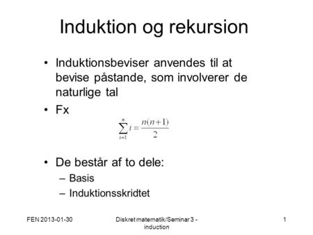 Induktion og rekursion