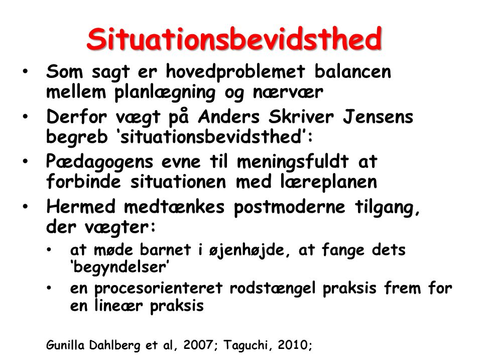 Situationsbevidsthed