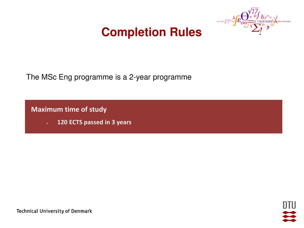 dtu master thesis rules