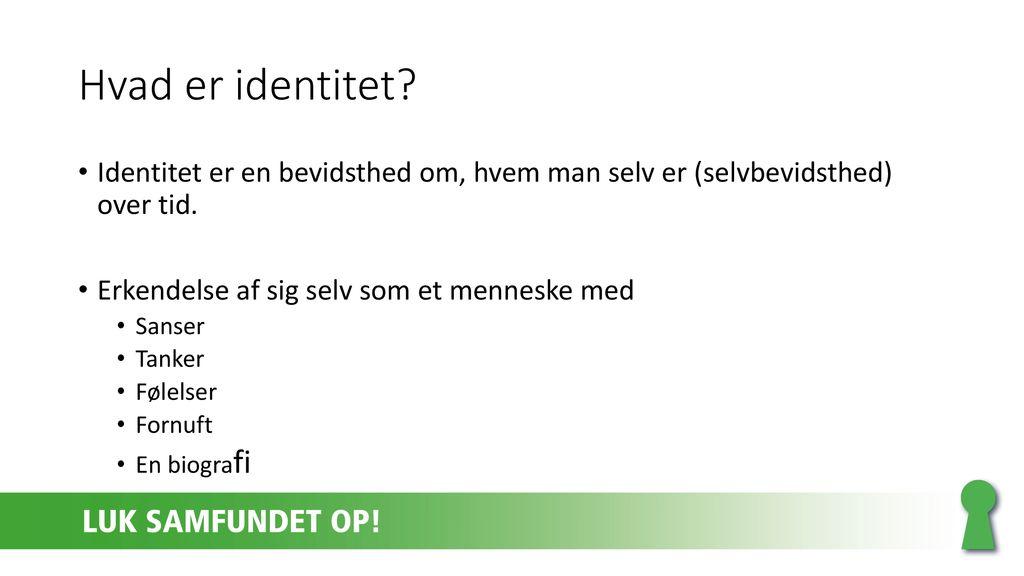hvad er identitet