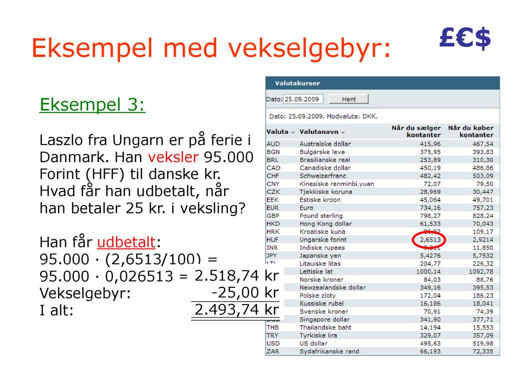 Valutaregning Hvornår Bruges Regning Med Valuta Ppt Download
