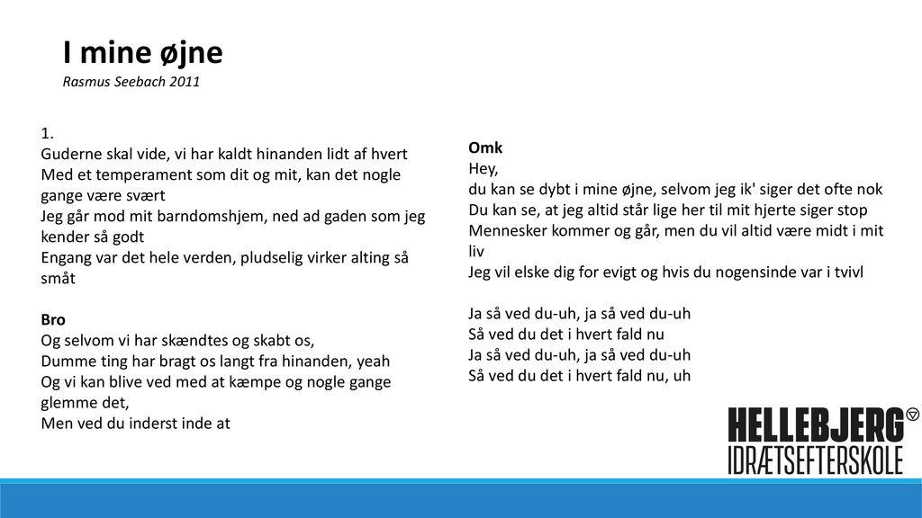 bc265d51b1e I mine øjne Rasmus Seebach ppt download