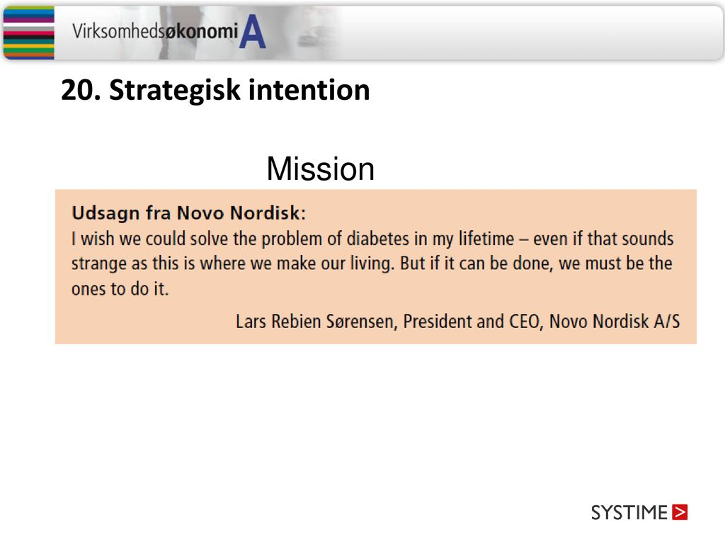 20. Strategisk intention Mission