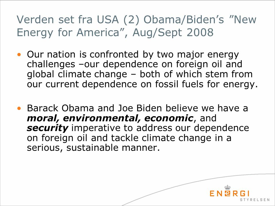 Verden set fra USA (2) Obama/Biden's New Energy for America , Aug/Sept 2008