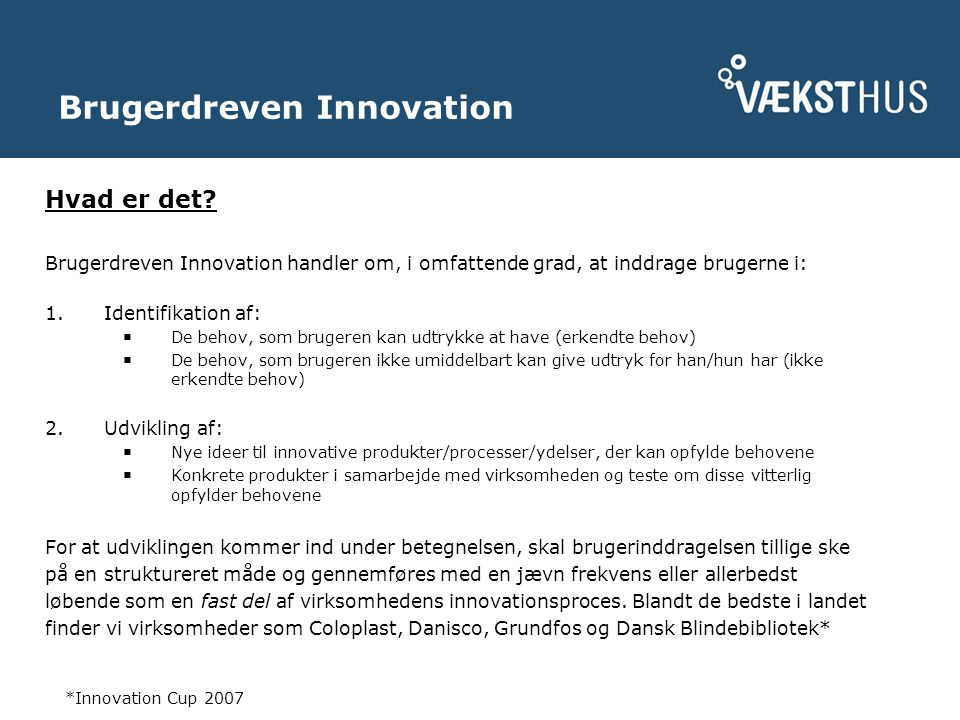 Brugerdreven Innovation