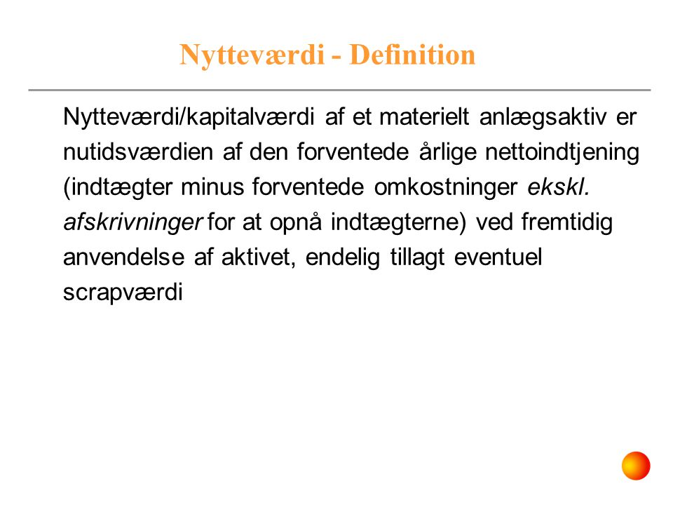 Nytteværdi - Definition