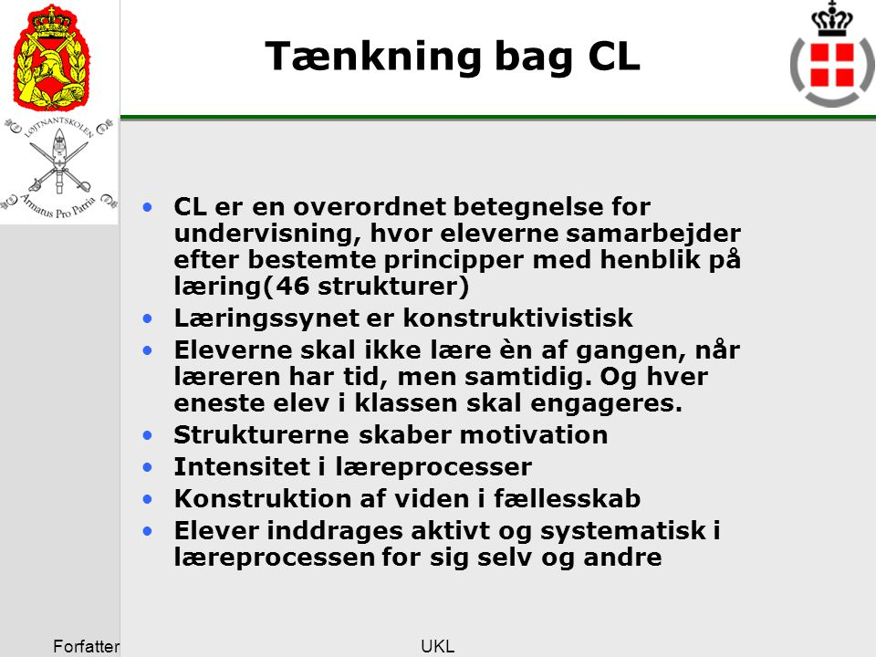 Tænkning bag CL