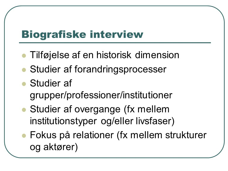 Biografiske interview
