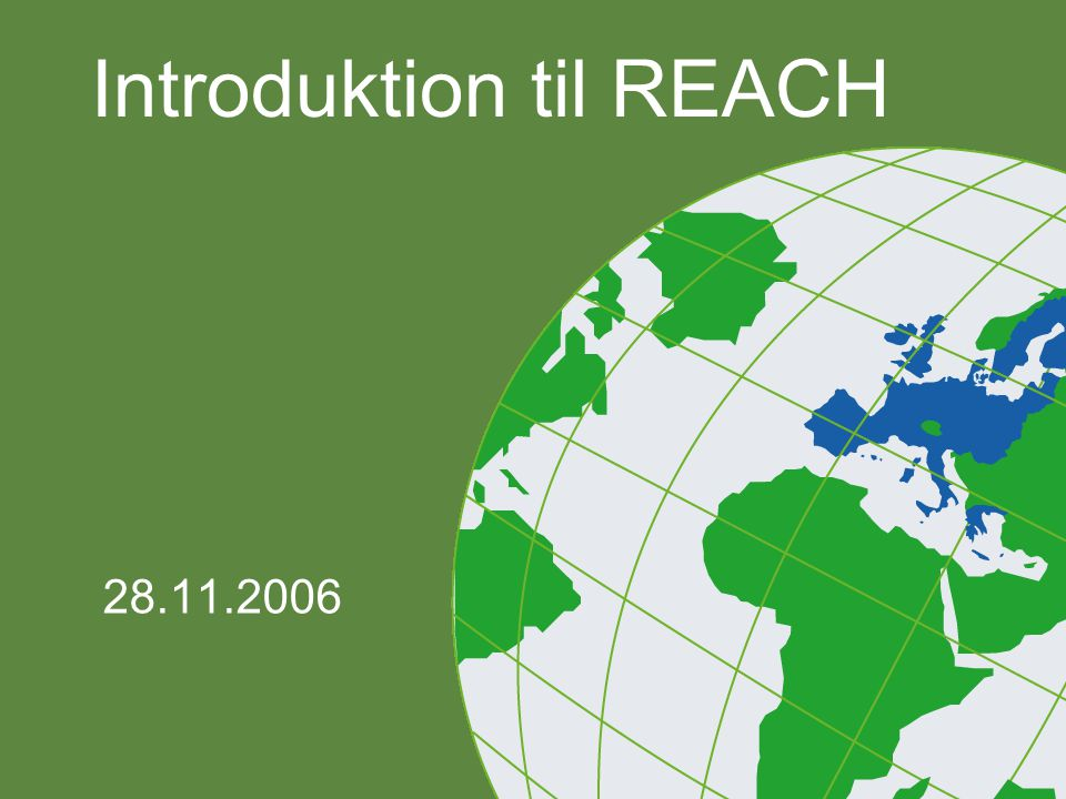 Introduktion til REACH