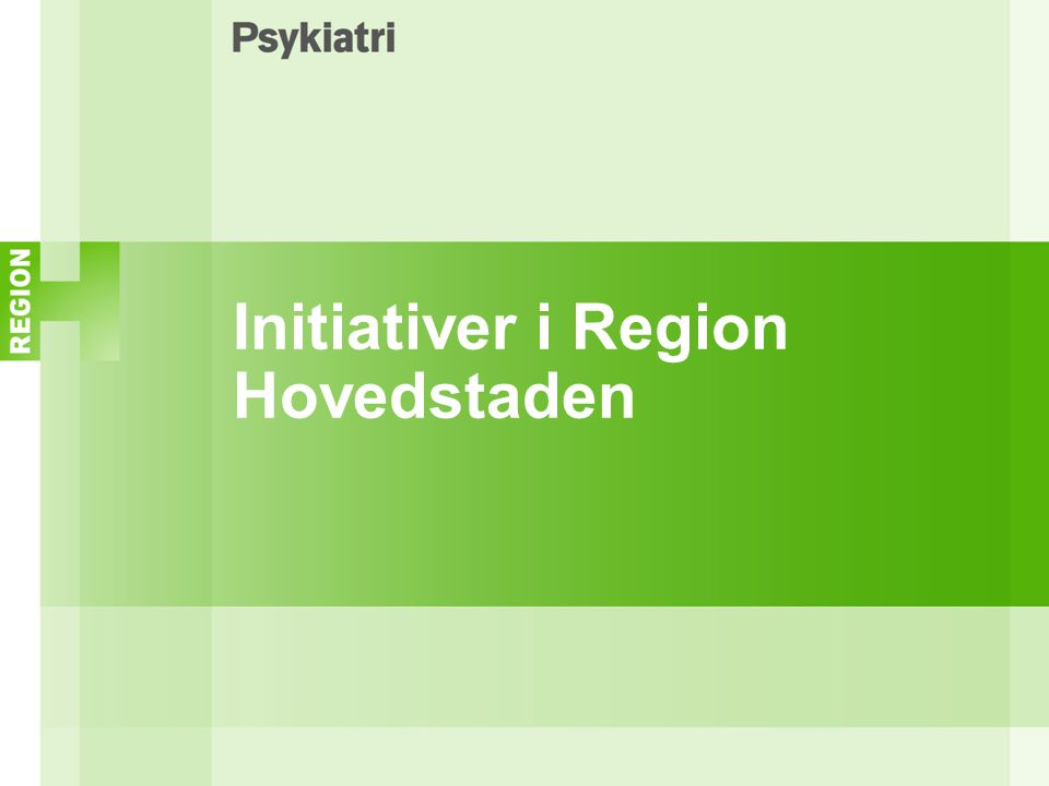 Initiativer i Region Hovedstaden