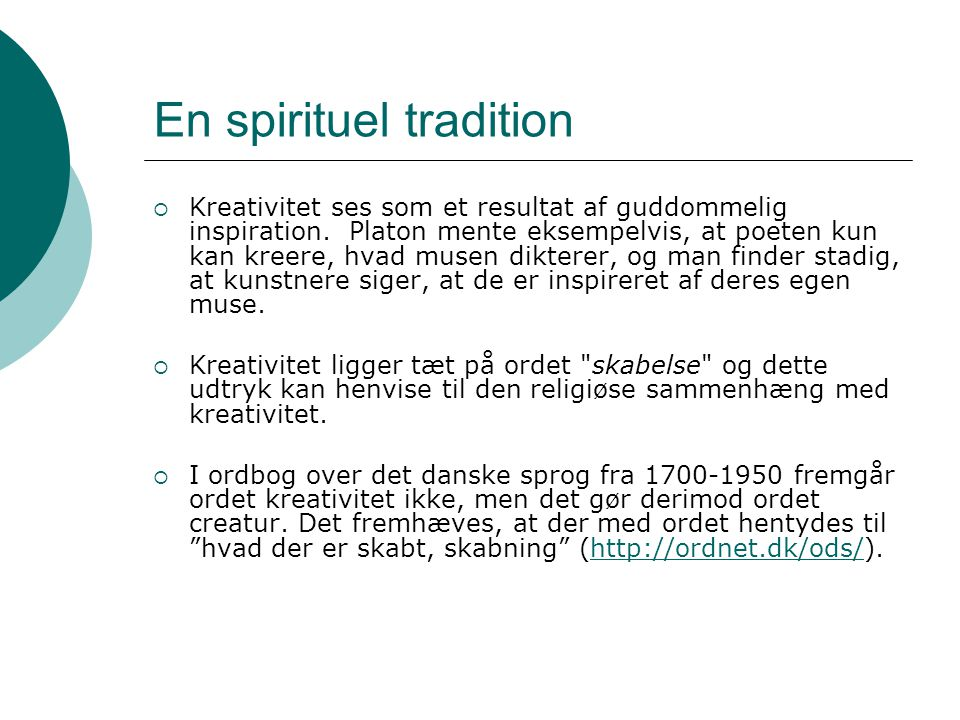 En spirituel tradition