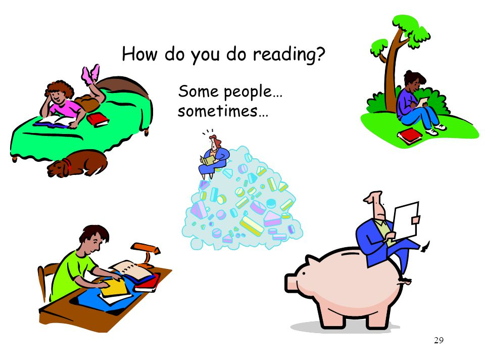 How do you do reading Some people… sometimes…