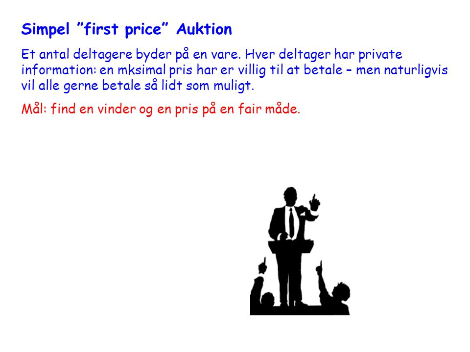 Simpel first price Auktion
