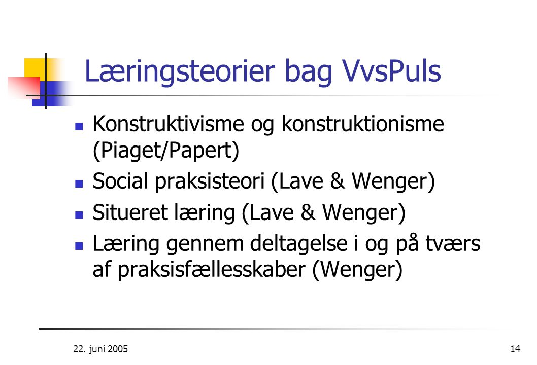 Læringsteorier bag VvsPuls