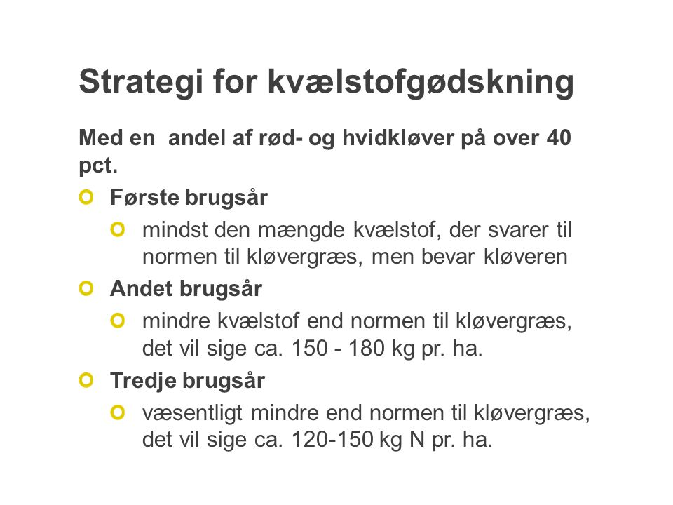 Strategi for kvælstofgødskning