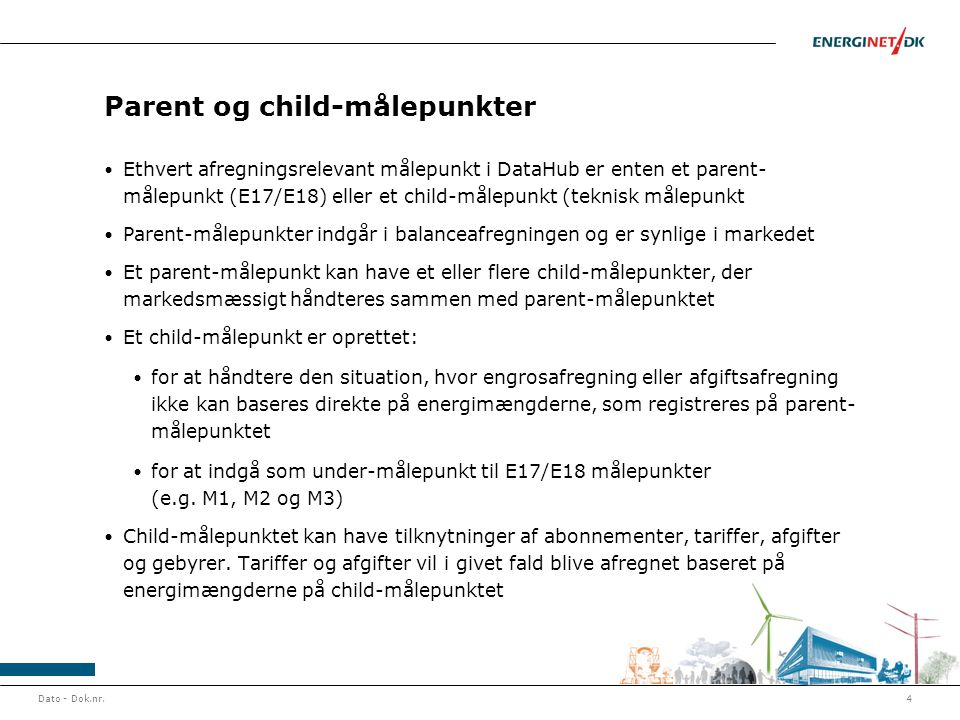 Parent og child-målepunkter