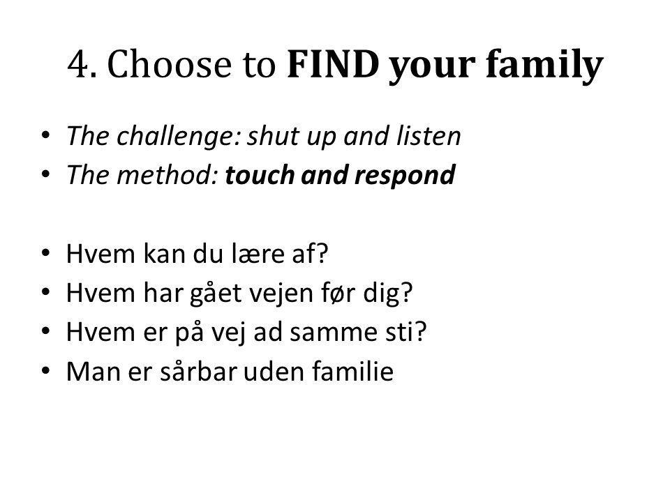 4. Choose to FIND your family