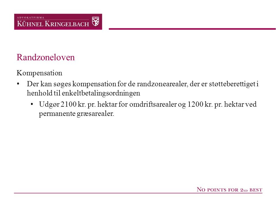 Randzoneloven Kompensation