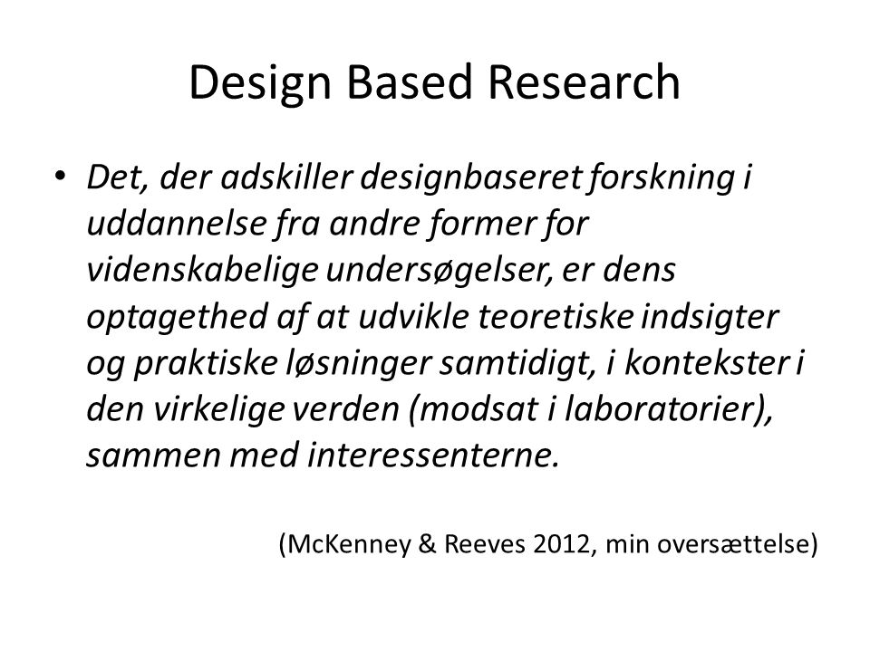 Design Based Research