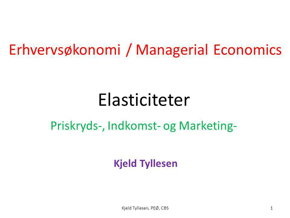 Priskryds-, Indkomst- og Marketing-