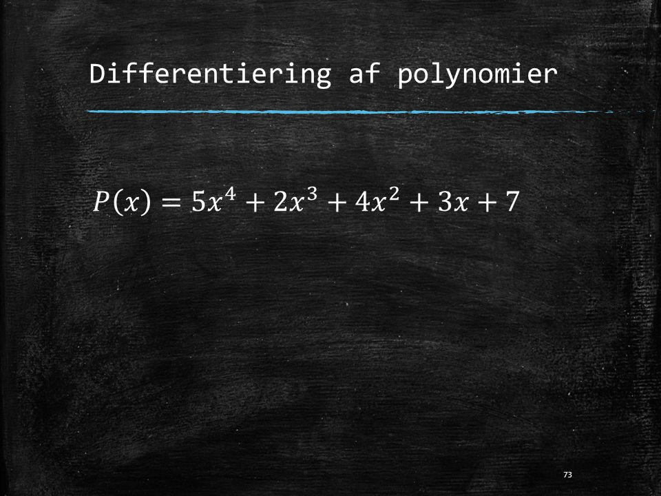 Differentiering af polynomier