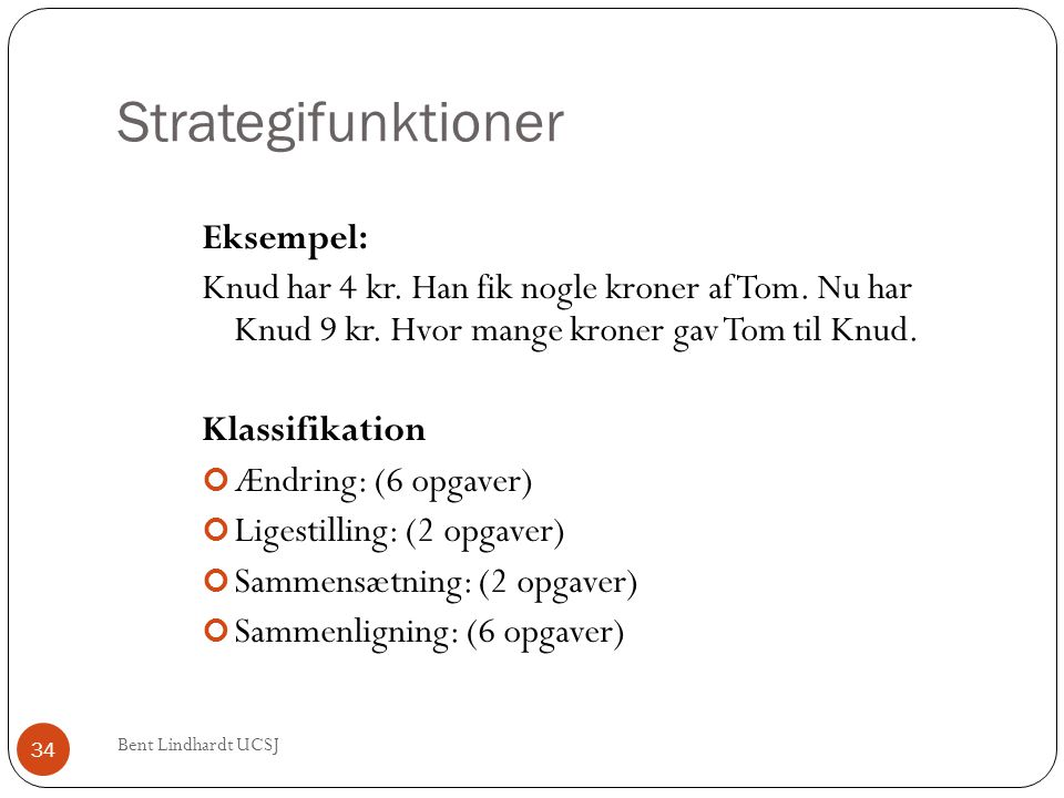 Strategifunktioner Eksempel: