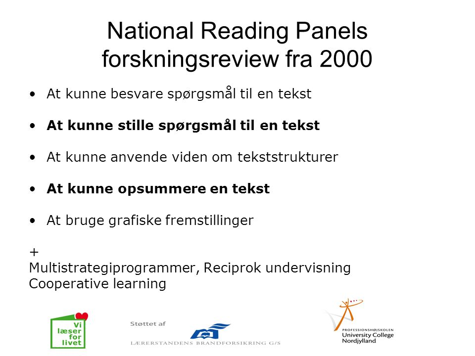 National Reading Panels forskningsreview fra 2000