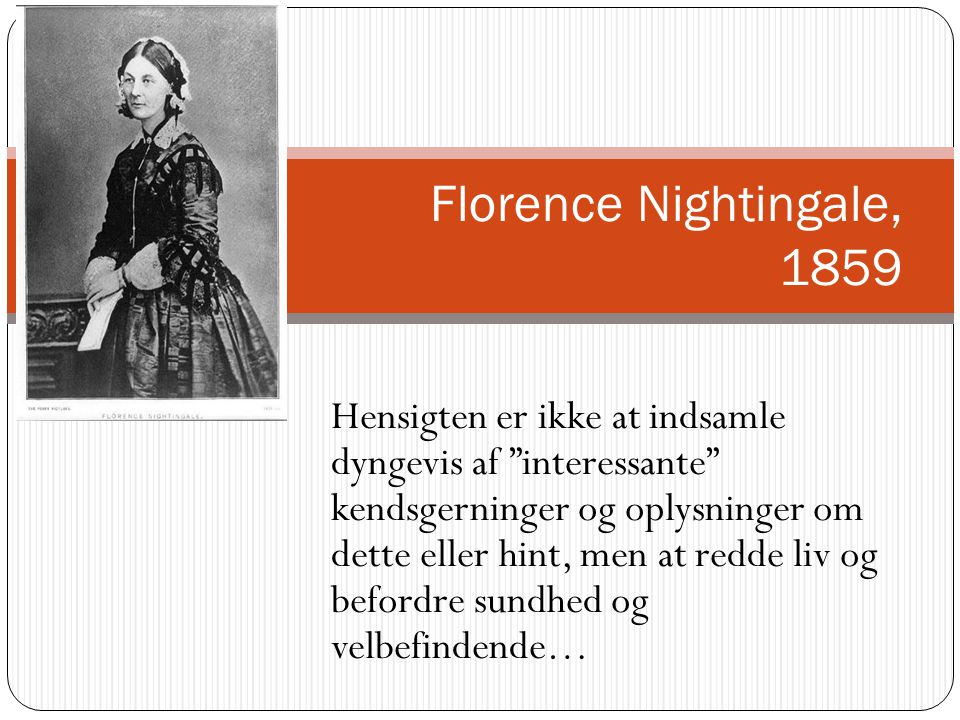 Florence Nightingale, 1859