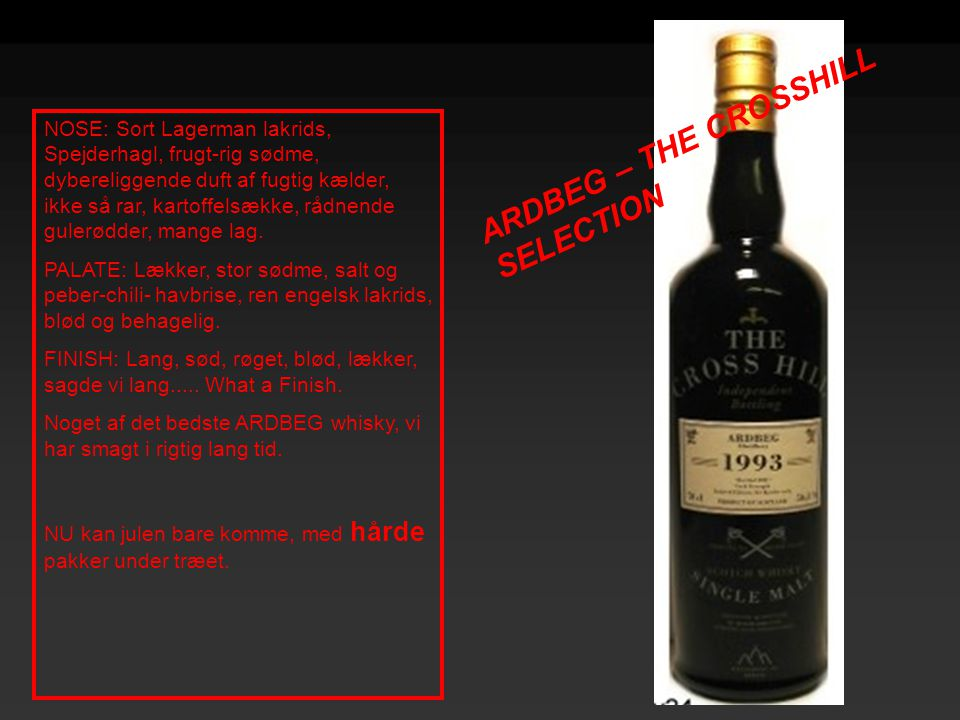 ARDBEG – THE CROSSHILL SELECTION