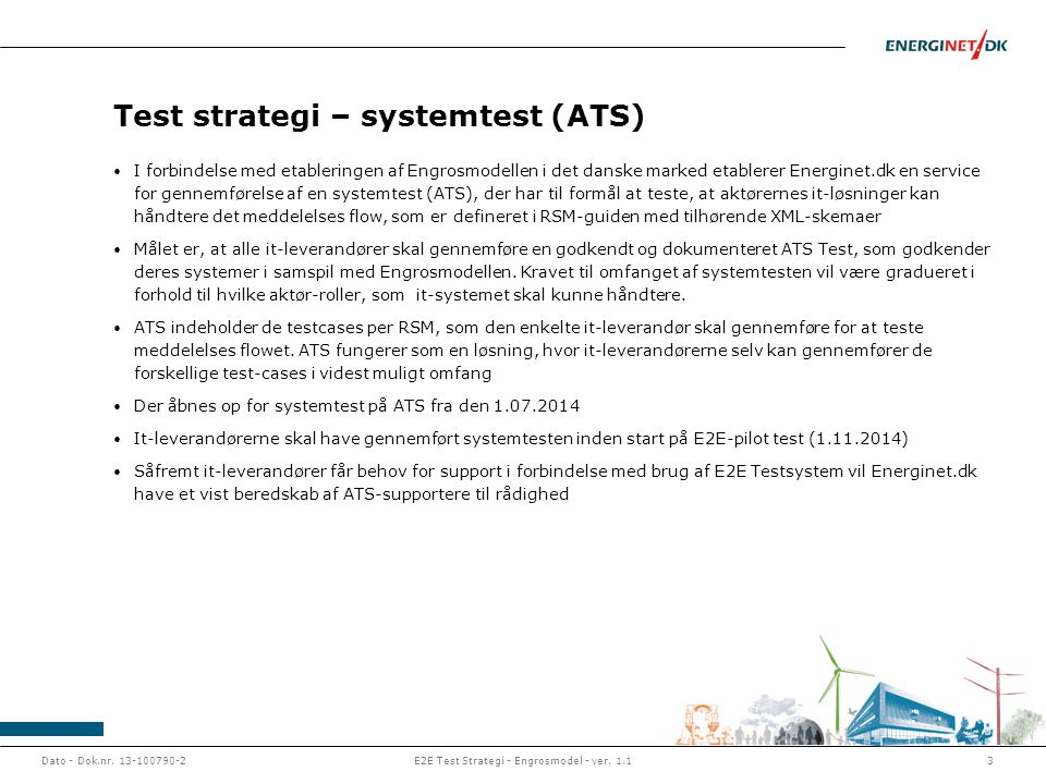 Test strategi – systemtest (ATS)