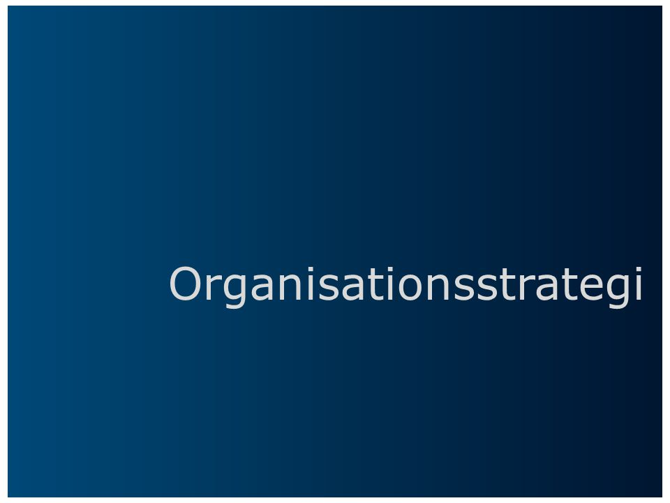 Organisationsstrategi