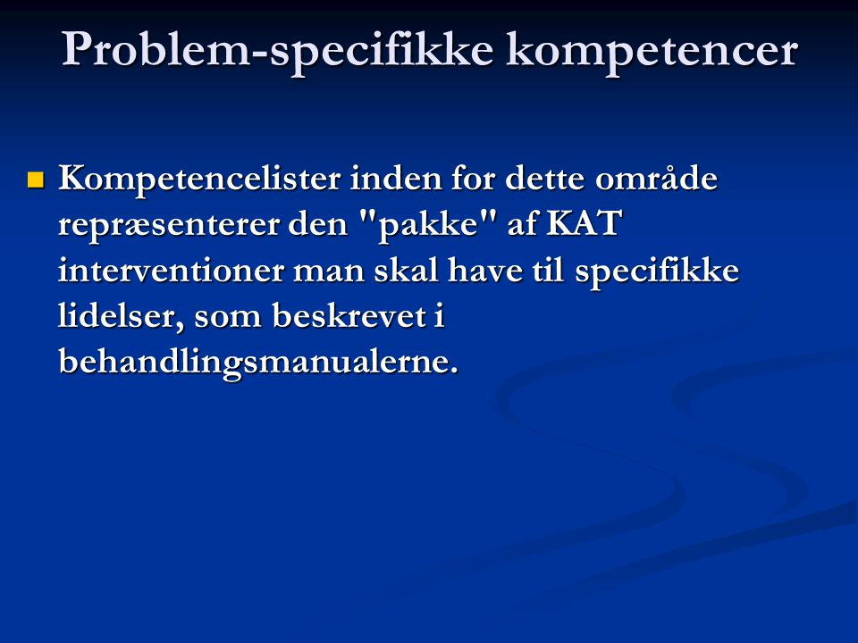 Problem-specifikke kompetencer