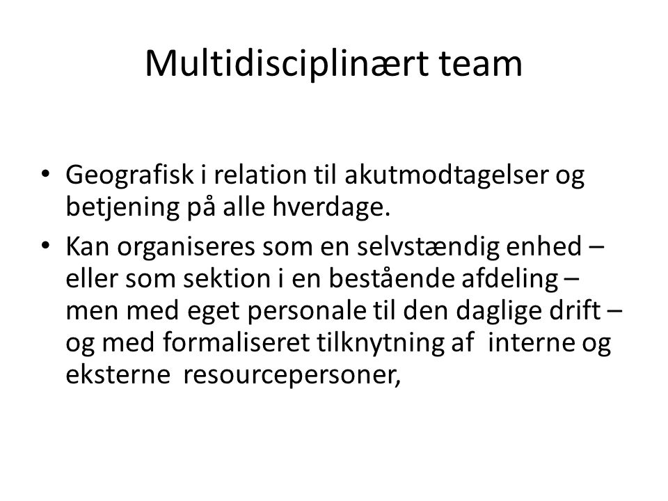 Multidisciplinært team
